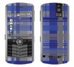 BlackBerry Pearl 8100 Skin :: Oceans Deep Plaid