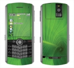 BlackBerry Pearl 8100 Skin :: Spiraling Green