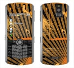BlackBerry Pearl 8100 Skin :: Splatter Orange