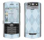 BlackBerry Pearl 8130 Skin :: Argyle Blue