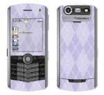 BlackBerry Pearl 8130 Skin :: Argyle Purple