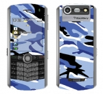 BlackBerry Pearl 8130 Skin :: Camo Blue