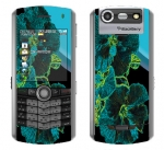 BlackBerry Pearl 8130 Skin :: Cosmic Flowers 2