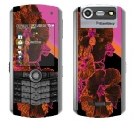BlackBerry Pearl 8130 Skin :: Cosmic Flowers 3