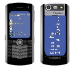 BlackBerry Pearl 8130 Skin :: Kiss Me Dork