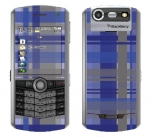 BlackBerry Pearl 8130 Skin :: Oceans Deep Plaid