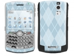 BlackBerry Curve 8300 Skin :: Argyle Blue