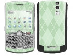 BlackBerry Curve 8300 Skin :: Argyle Green