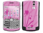 BlackBerry Curve 8300 Skin :: Floating Hearts