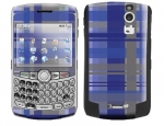 BlackBerry Curve 8300 Skin :: Oceans Deep Plaid