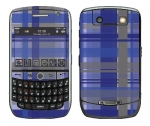 BlackBerry Curve 8900 Skin :: Oceans Deep Plaid