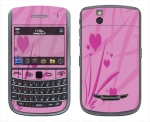 BlackBerry Bold 9650 Skin :: Floating Hearts