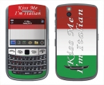 BlackBerry Bold 9650 Skin :: Kiss Me Italian