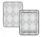 HP Touch Pad Skin :: Argyle Gray