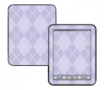 HP Touch Pad Skin :: Argyle Purple