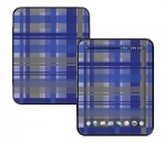 HP Touch Pad Skin :: Oceans Deep Plaid