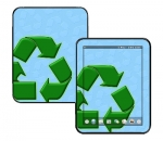 HP Touch Pad Skin :: Recycle