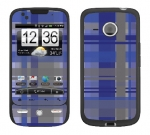 HTC Droid Eris Skin :: Oceans Deep Plaid