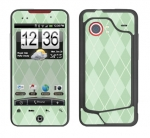 HTC Droid Incredible Skin :: Argyle Green