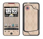 HTC Droid Incredible Skin :: Argyle Tan
