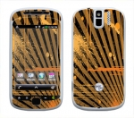 HTC myTouch 3G Slide Skin :: Splatter Orange