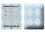 Apple iPad Skin :: Argyle Blue
