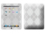Apple iPad Skin :: Argyle Gray