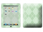 Apple iPad Skin :: Argyle Green