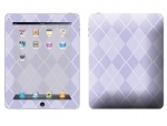 Apple iPad Skin :: Argyle Purple