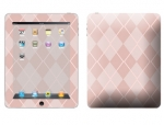 Apple iPad Skin :: Argyle Red
