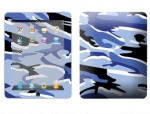 Apple iPad Skin :: Camo Blue