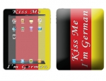 Apple iPad Skin :: Kiss Me German