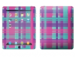Apple iPad Skin :: Candy Shop Plaid