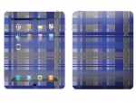 Apple iPad Skin :: Oceans Deep Plaid