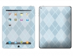 Apple iPad 2 Skin :: Argyle Blue