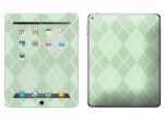 Apple iPad 2 Skin :: Argyle Green