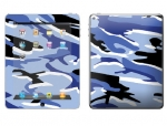 Apple iPad 2 Skin :: Camo Blue