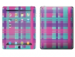 Apple iPad 2 Skin :: Candy Shop Plaid