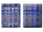 Apple iPad 2 Skin :: Oceans Deep Plaid