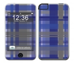 Apple iTouch (1st Gen) Skin :: Oceans Deep Plaid