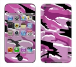 Apple iTouch 4th Gen Skin :: Camo Pink
