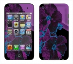 Apple iTouch 4th Gen Skin :: Cosmic Flowers 1