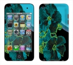 Apple iTouch 4th Gen Skin :: Cosmic Flowers 2