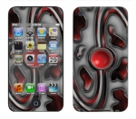 Apple iTouch 4th Gen Skin :: Cynic Red