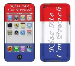 Apple iTouch 4th Gen Skin :: Kiss Me French