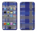 Apple iTouch 4th Gen Skin :: Oceans Deep Plaid