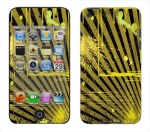 Apple iTouch 4th Gen Skin :: Splatter Yellow