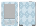 Amazon Kindle 2 Skin :: Argyle Blue