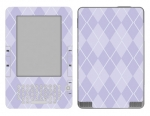 Amazon Kindle 2 Skin :: Argyle Purple