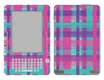 Amazon Kindle 2 Skin :: Candy Shop Plaid